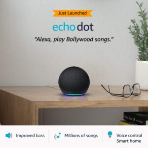 All-new Echo Dot (4th Gen)   Next generation smart speaker with improved bass and Alexa (Black)