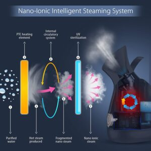 HealthSense Nano-Cure FS 550 Medical Facial Steamer Inhaler Vaporizer