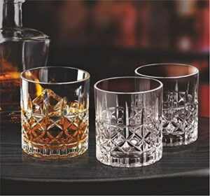 TMARK Whisky Crystal Glass Twist Design Whiskey Glass